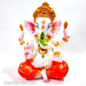 Colourful marble ganesh ji murti